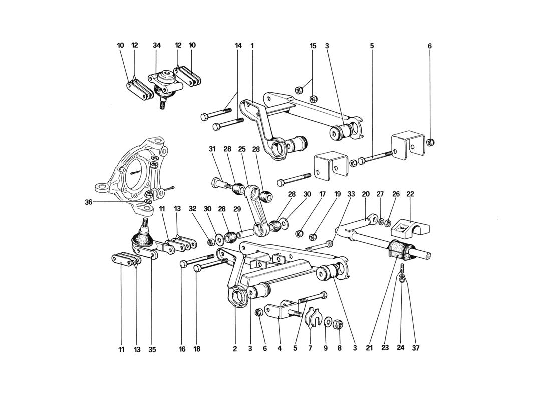 FRONT SUSPENSION - WISHBONES (STARTING FROM CAR NO. 76626)