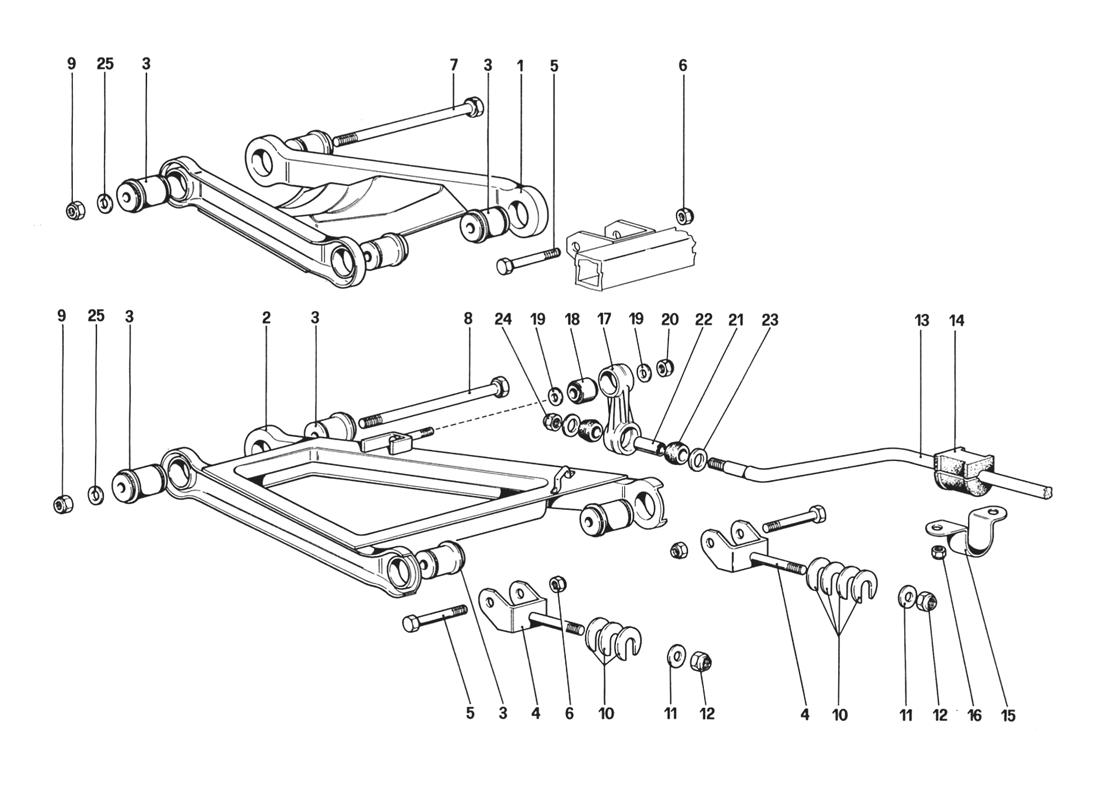 REAR SUSPENSION - WISHBONES (STARTING FROM CAR NO. 76626)