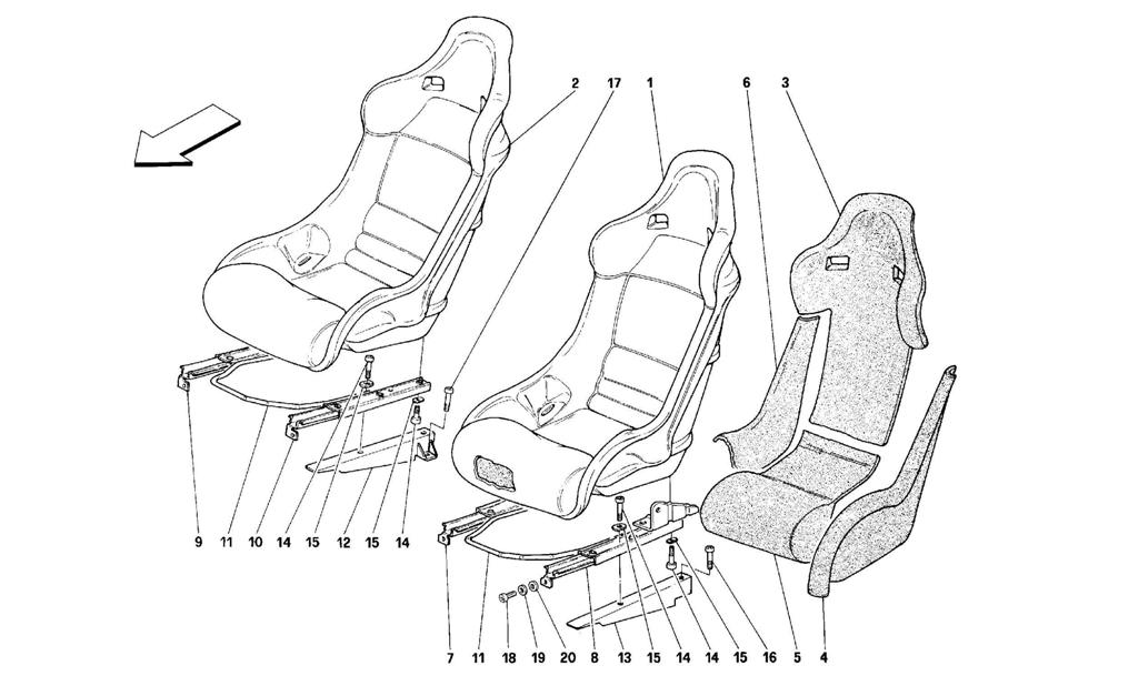 SEATS -VALID FOR 348 COMP.-