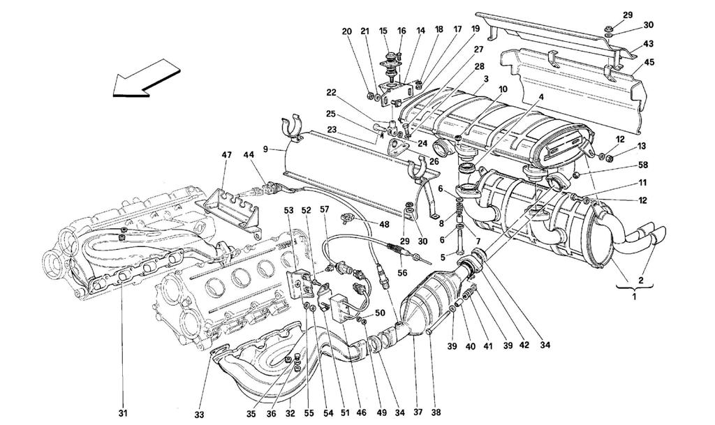 EXHAUST SYSTEM -VALID FOR CH AND AUS-
