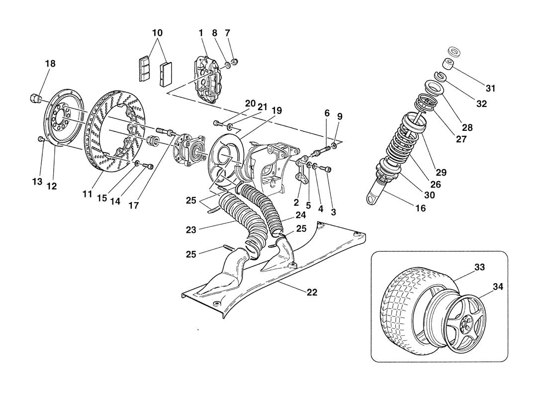 BRAKES - SHOCK-ABSORBERS - REAR AIR INTAKES - WHEELS