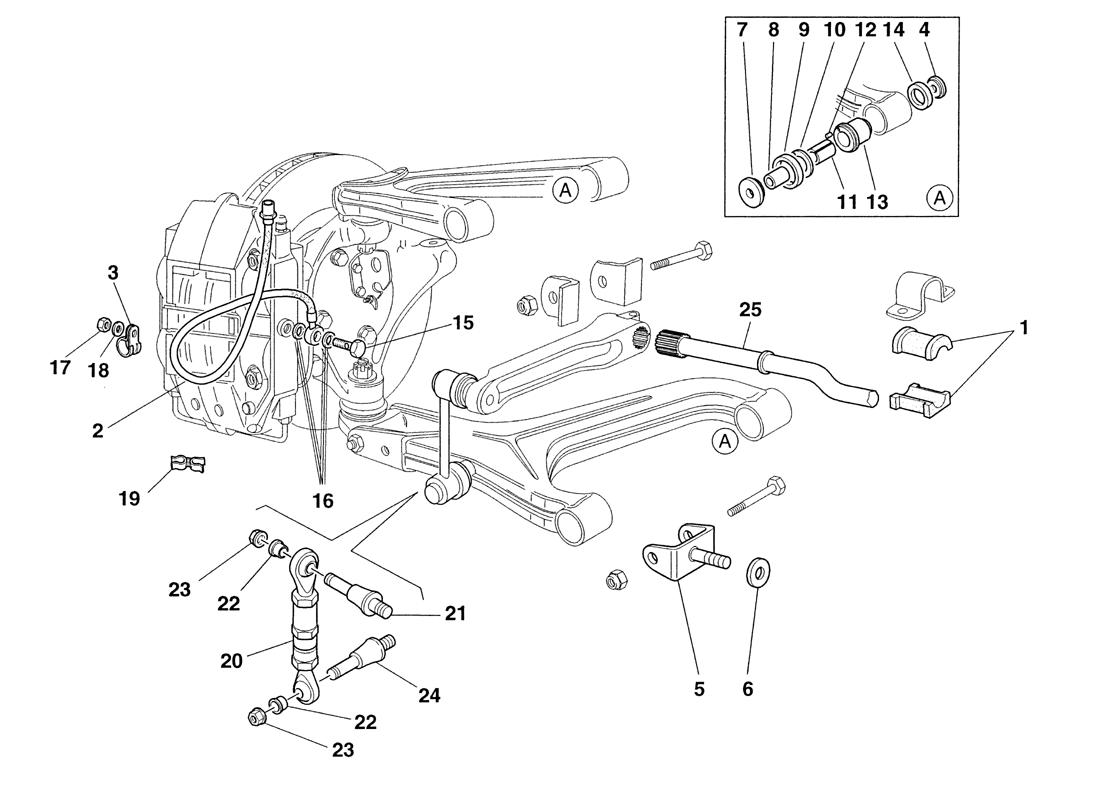 FRONT SUSPENSION AND BRAKE PIPES