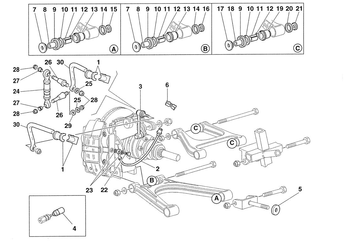 REAR SUSPENSION AND BRAKE PIPES