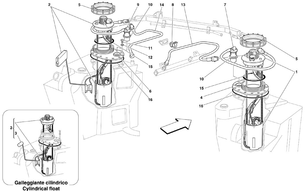 FUEL PUMPS AND PIPES