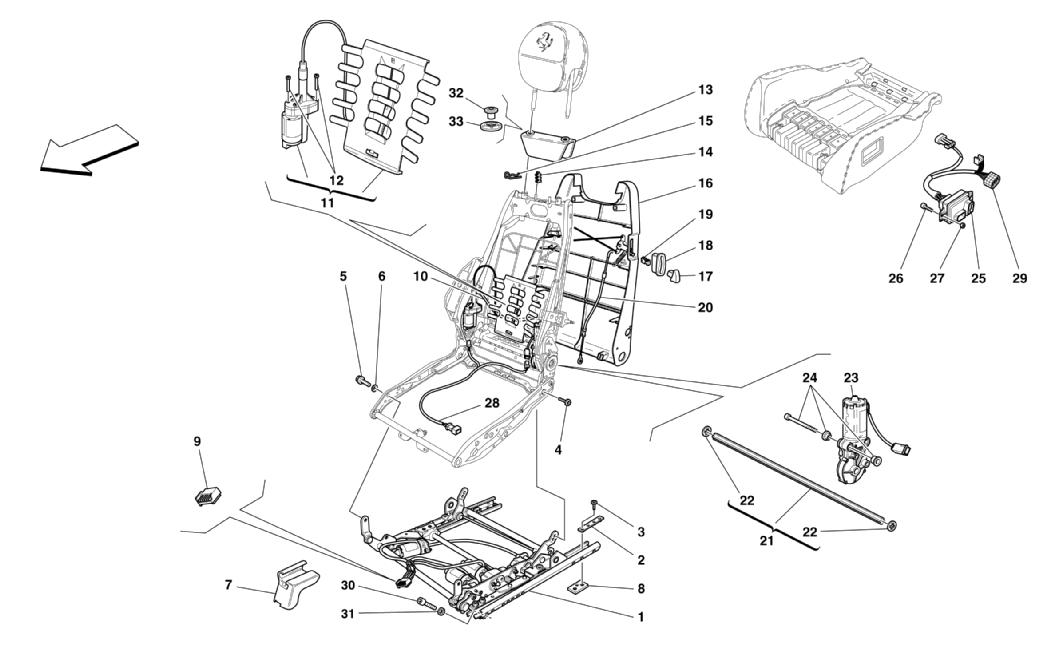 ELECTRICAL SEAT - GUIDE AND MOVEMENT