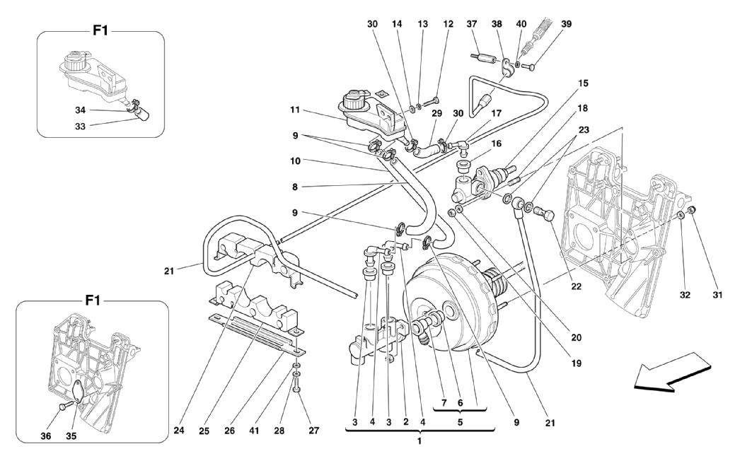 BRAKES AND CLUTCH HYDRAULIC CONTROLS -NOT FOR RHD