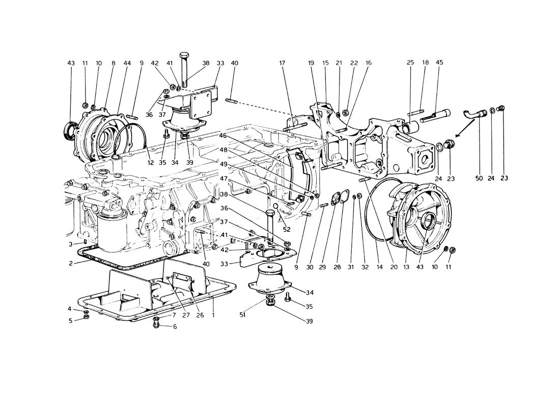 GEARBOX - MOUNTINGS AND COVERS