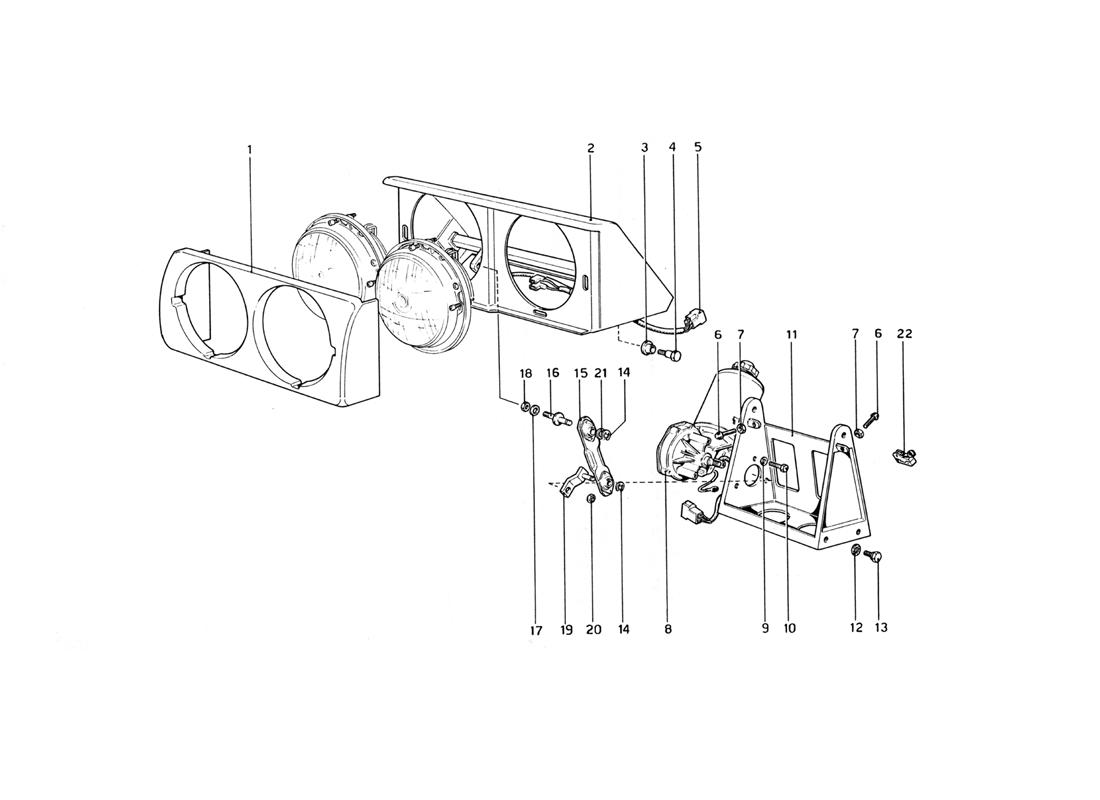 HEADLIGHT LIFTING DEVICE