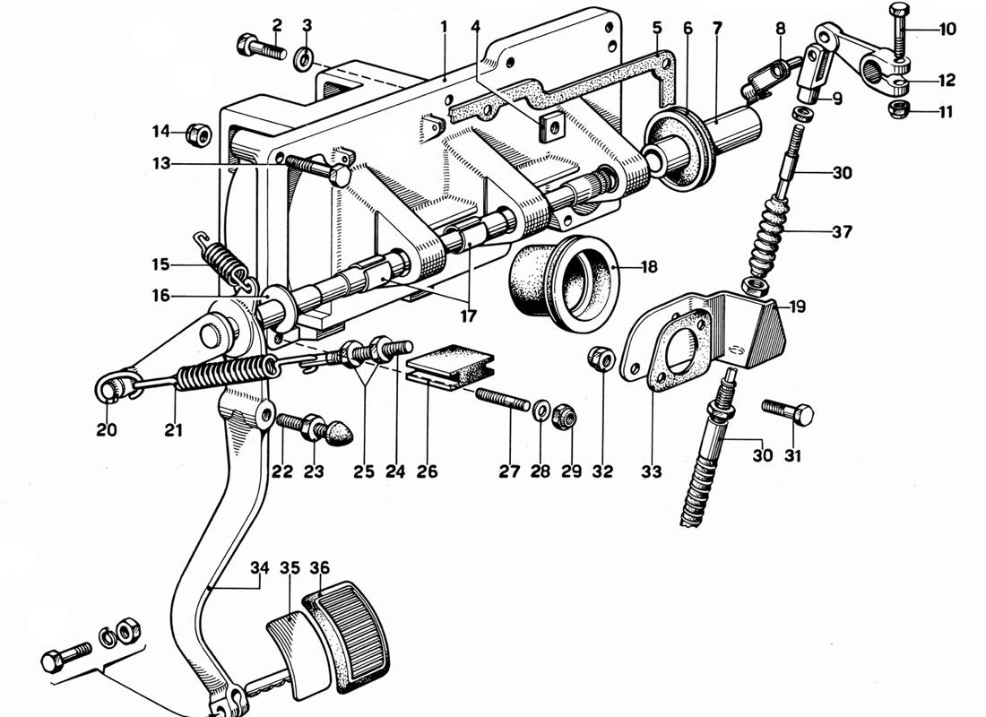 PEDAL BOARD - CLUTCH CONTROL