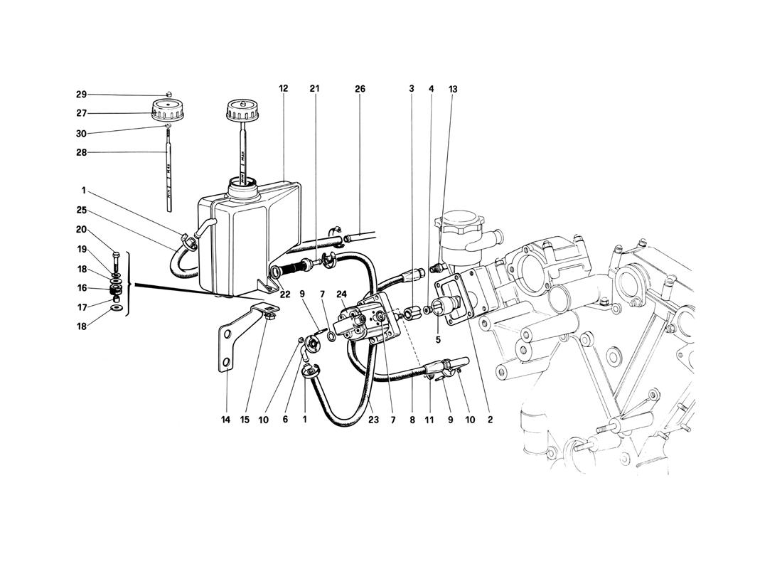 REAR SUSPENSION - OIL TANK AND OIL PUMP