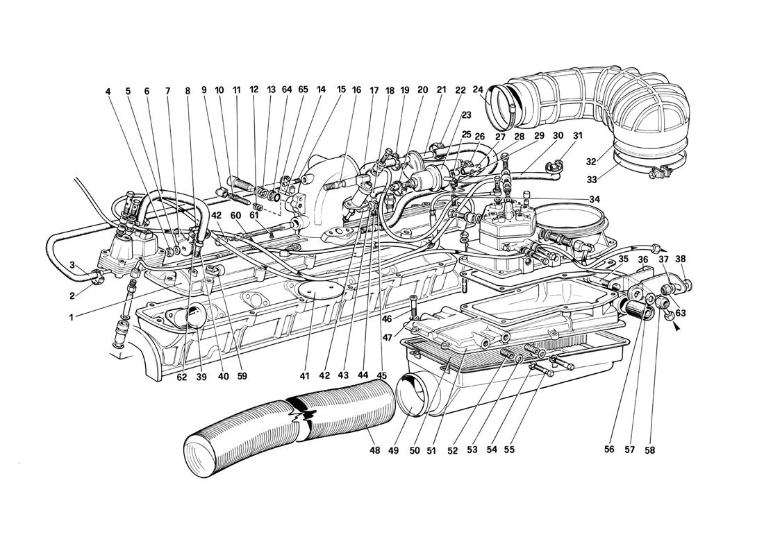 FUEL INJECTION SYSTEM - AIR INTAKE, LINES