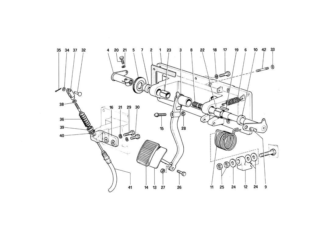 CLUTCH RELEASE CONTROL - 412 M. RHD