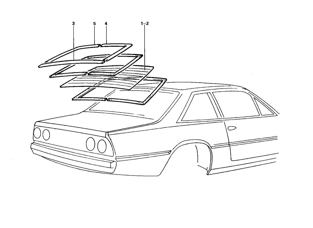 REAR WINDSHIELD AND SEALS