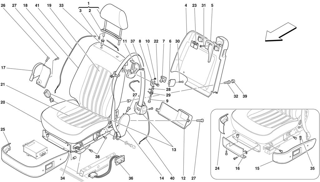 FRONT SEATS AND SEAT BELTS