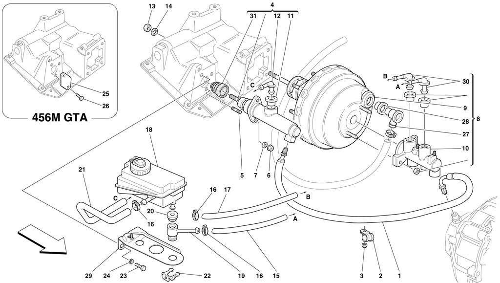 BRAKE AND CLUTCH HYDRAULIC SYSTEM -VALID FOR RHD