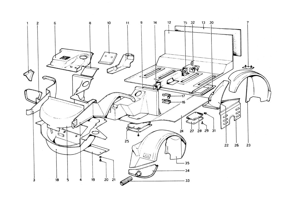 BODY SHELL - INNER ELEMENTS LOWER