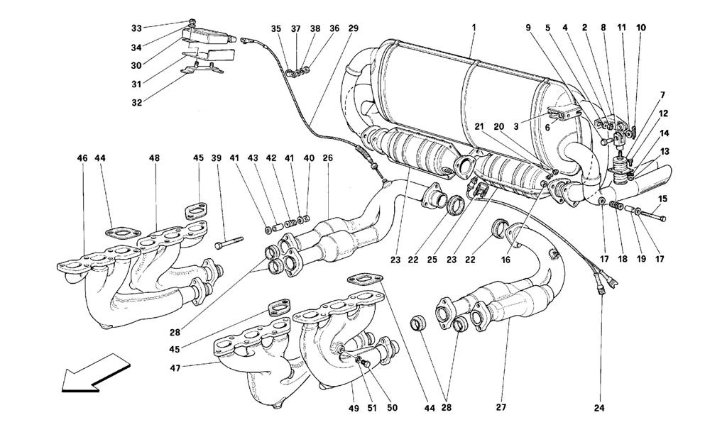 EXHAUST SYSTEM -VALID FOR USA, CDN, AUS, CH
