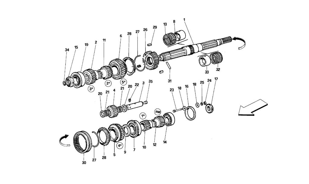MAIN SHAFT GEARS