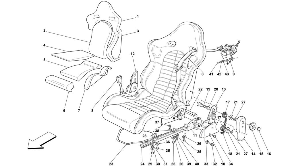 SEAT AND SAFETY BELTS -SPORT-