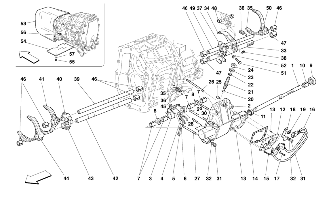 INSIDE GEARBOX CONTROLS -Valid for F1