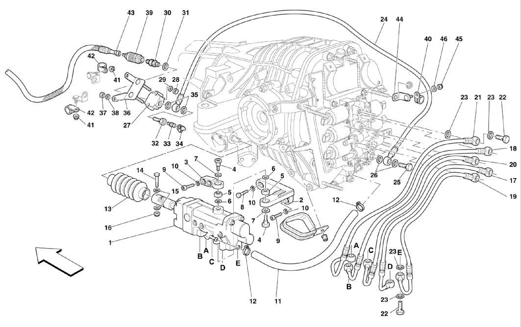 F1 CLUTCH HYDRAULIC CONTROL -VALID FOR F1-