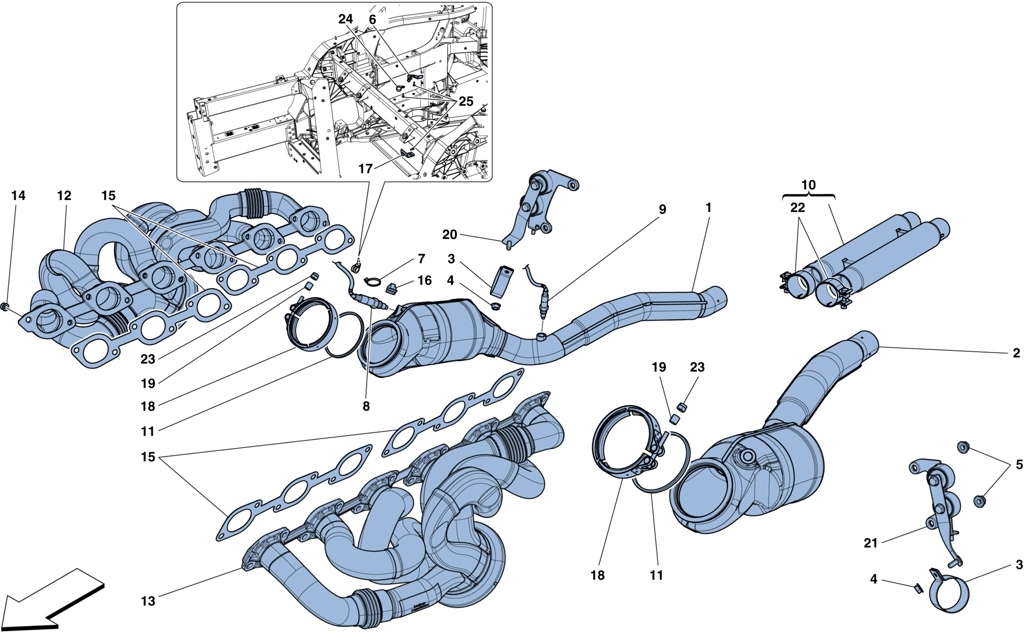 PRE-CATALYTIC AND PRIMARY CATALYTIC CONVERTERS