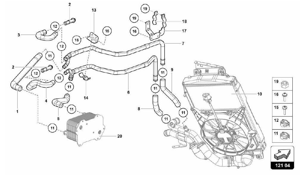 lamborghini aventador 2013 121 04 00 water cooling system rh ricambiamerica com Turbo Engine Diagram VR6 Engine Diagram