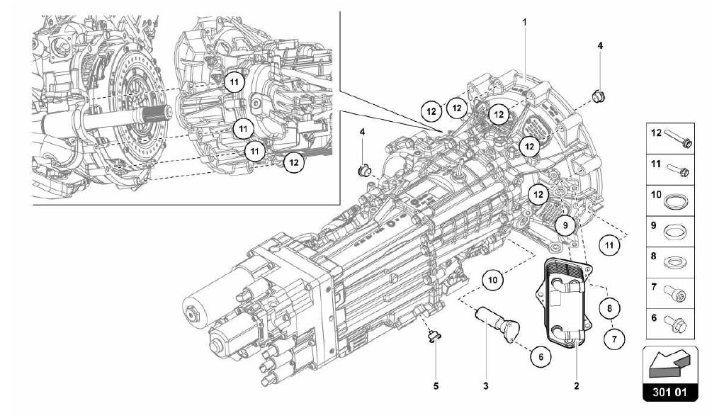 lamborghini engine diagrams lamborghini aventador  2013  301 01 00 gearbox oil filter  301 01 00 gearbox oil filter