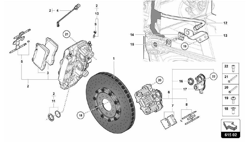 lamborghini aventador 2013 615 02 00 rear brakes discs ccb 615 02 00 rear brakes discs ccb