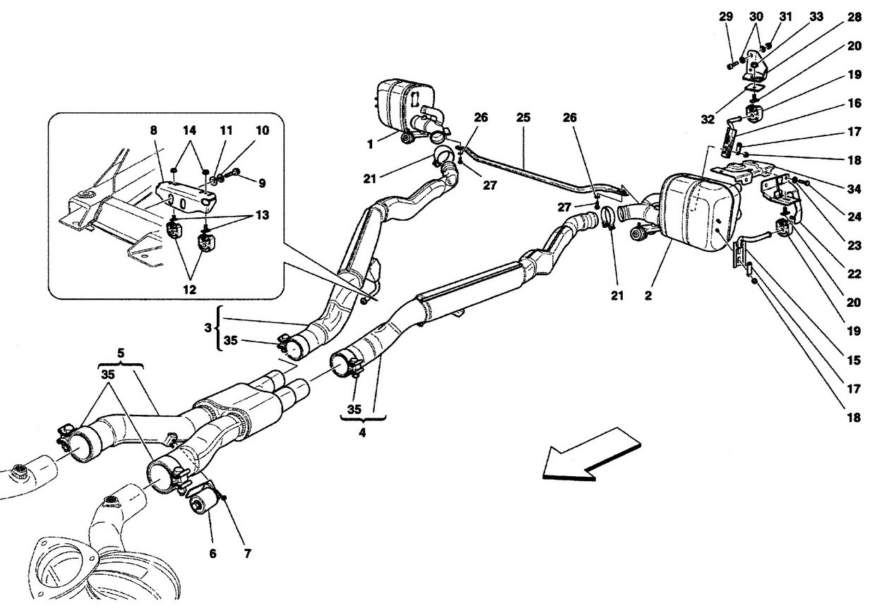 EXHAUST SYSTEM - MUFFLERS