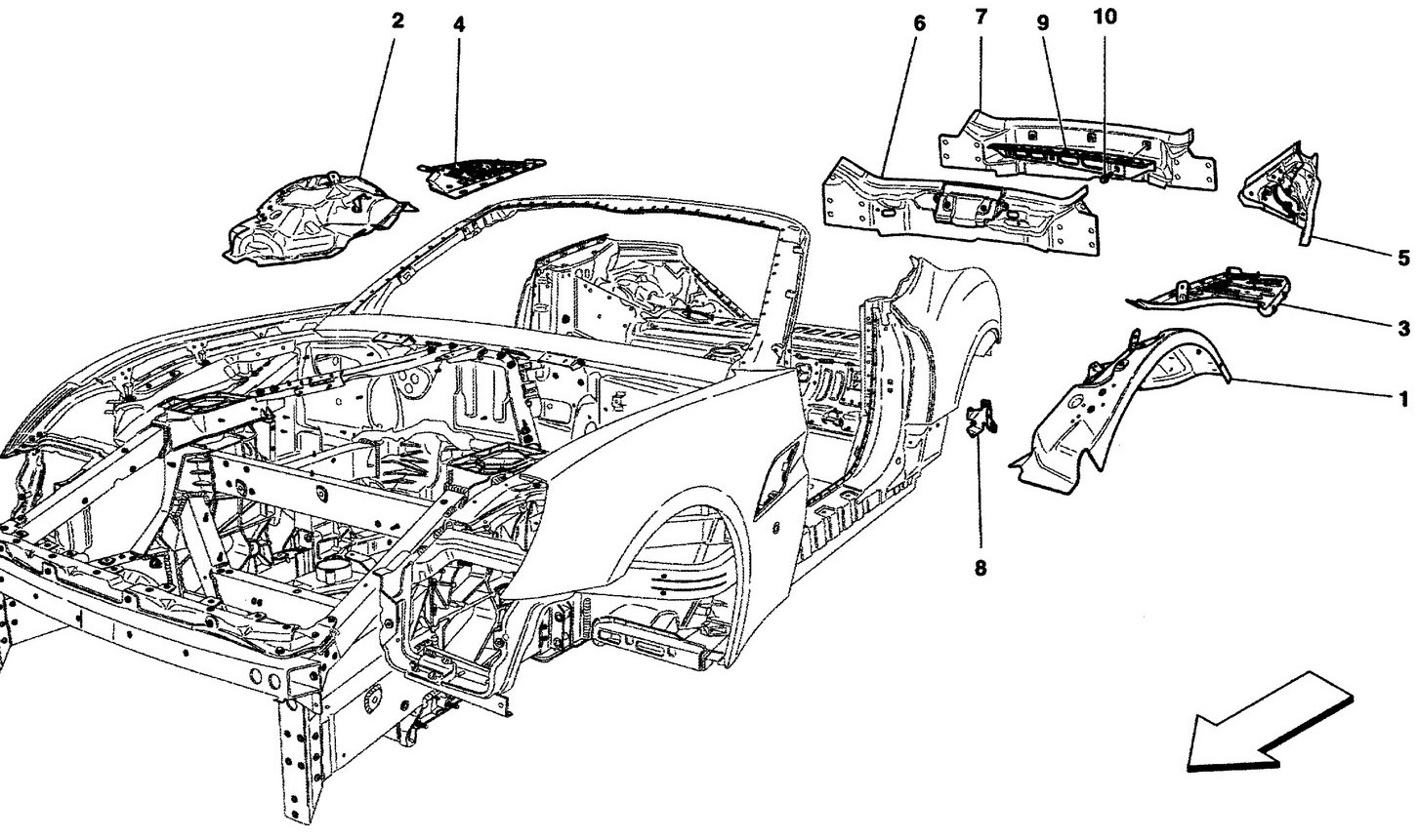 BODYWORK AND REAR OUTER TRIM PANELS