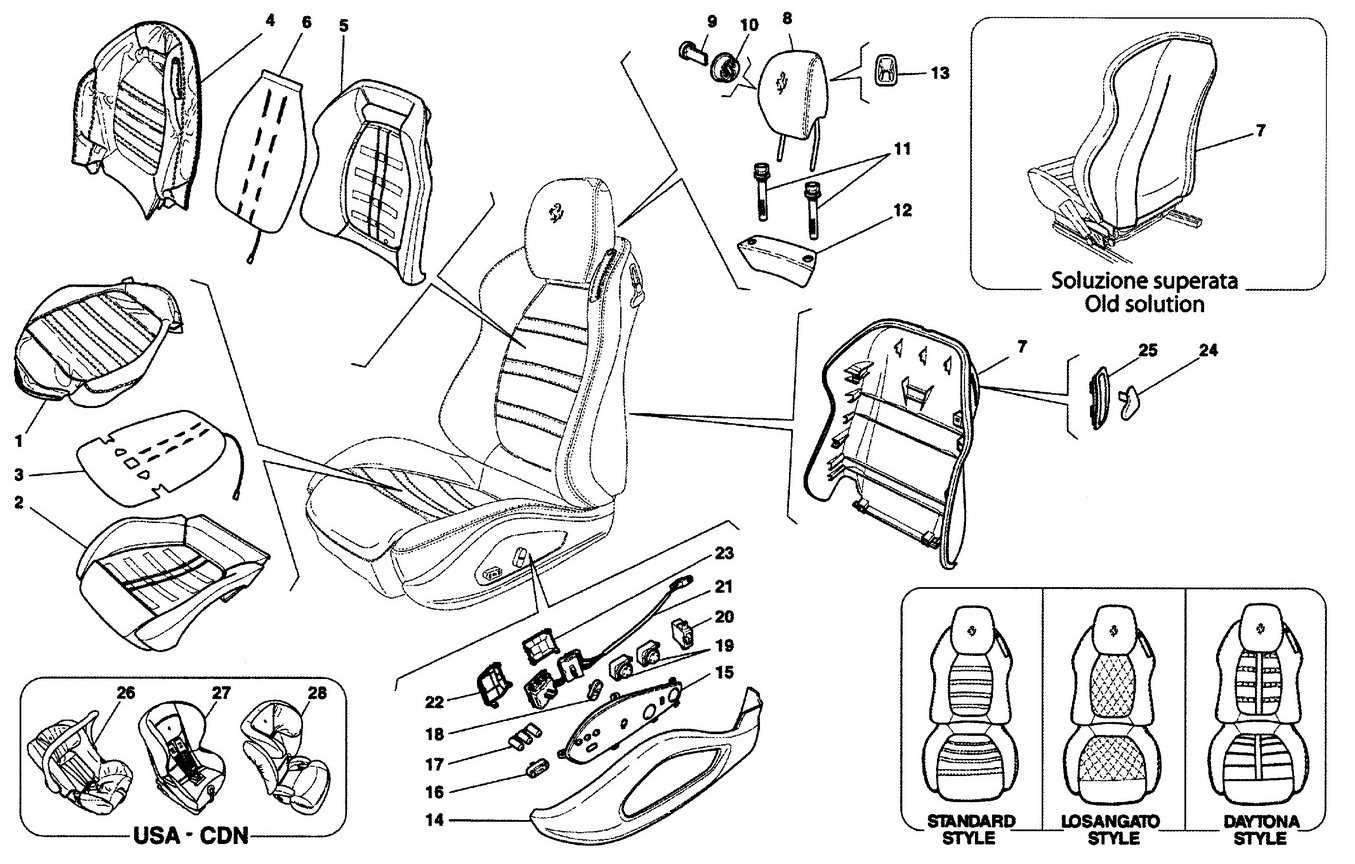 FRONT SEAT - COVERINGS AND ACCESSORIES