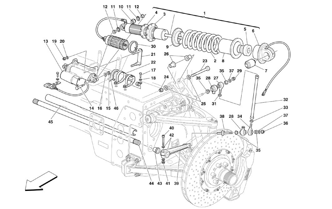 FRONT SUSPENSION - SHOCK ABSORBER AND STABILIZER BAR