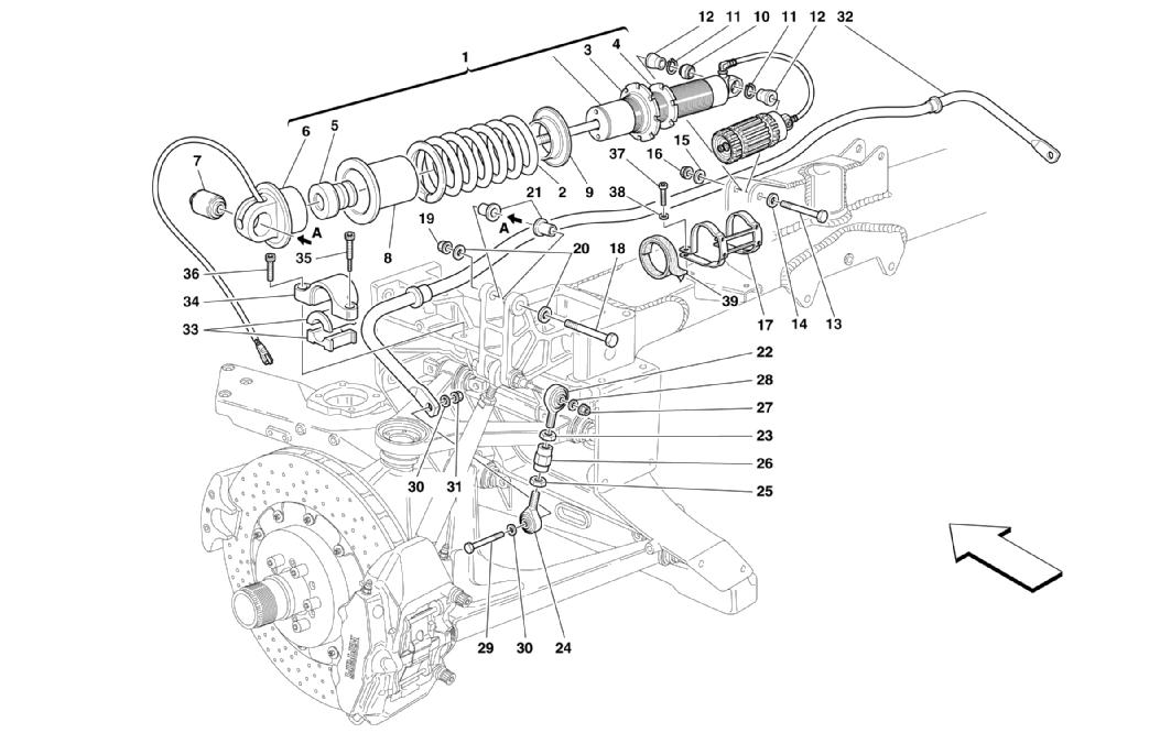 REAR SUSPENSIONS - SHOCK ABSORBER AND STABILIZER BAR