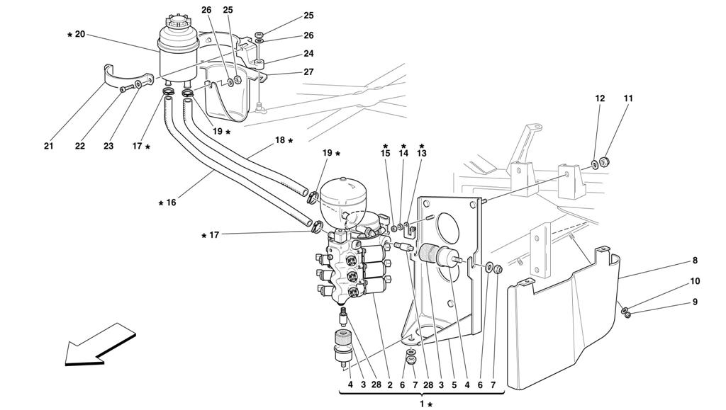 POWER UNIT AND TANK -VALID FOR 355 F1 CARS-