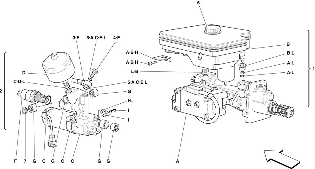 HYDRAULIC SYSTEM FOR ABS TEVES -NOT FOR ABS BOSCH AND 355 F1 CARS-