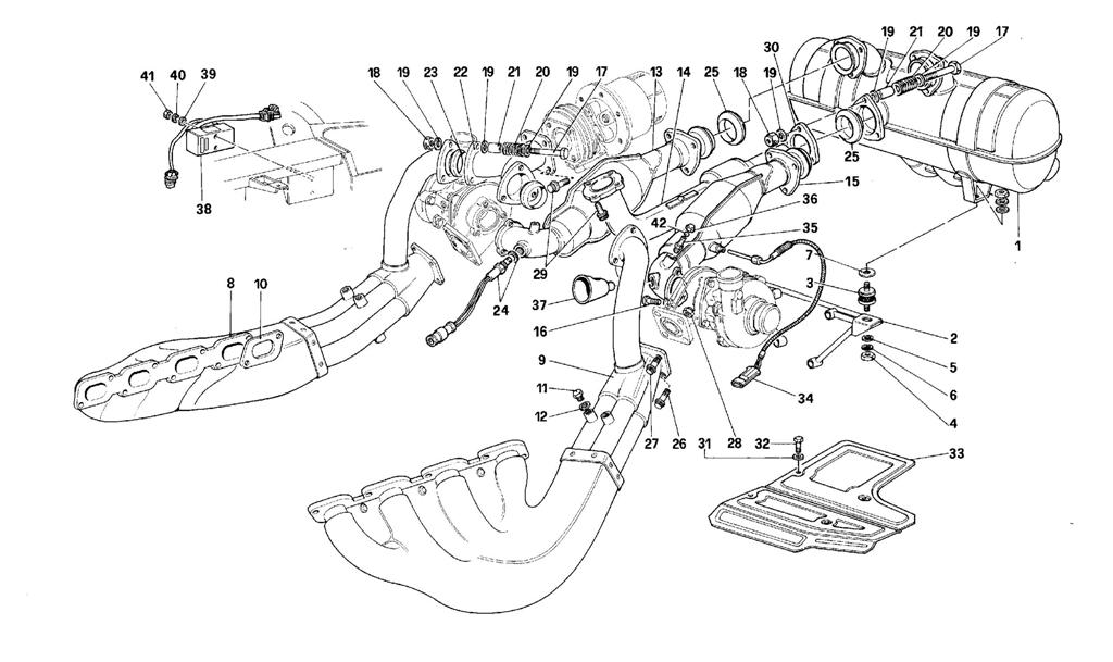 EXHAUST SYSTEM -VALID FOR CARS WITH CATALYST-