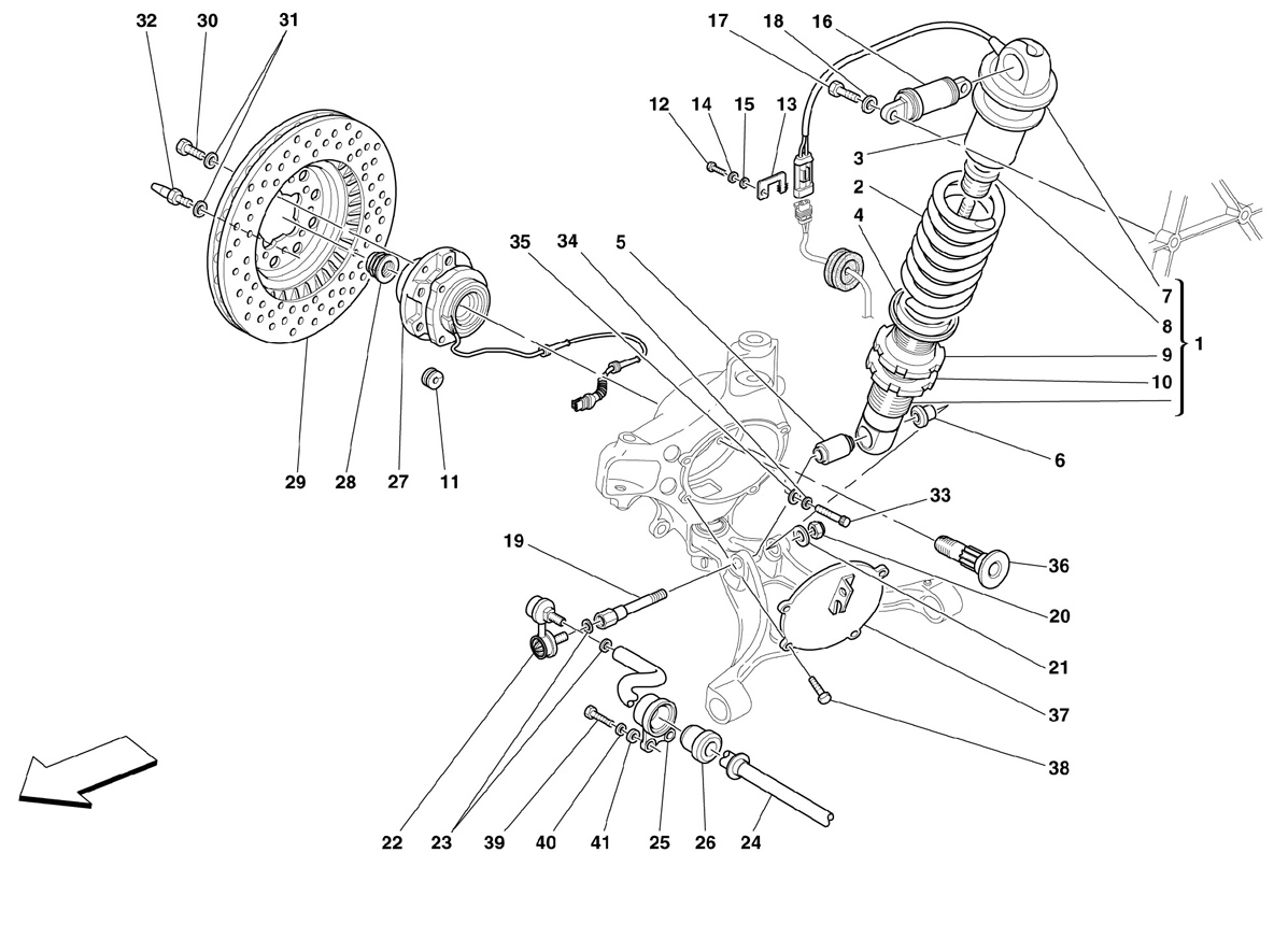 FRONT SUSPENSION - SHOCK ABSORBER AND B