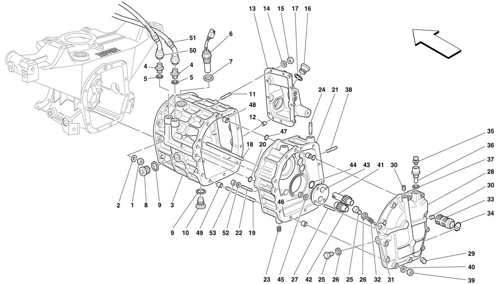 REAR PART GEARBOXES HOUSING - COVERS AND LUBRICATION