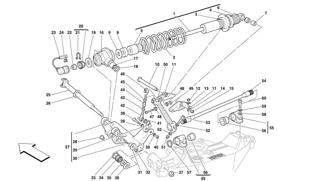 REAR SUSPENSION - SHOCK ABSORBER AND STABILIZER BAR