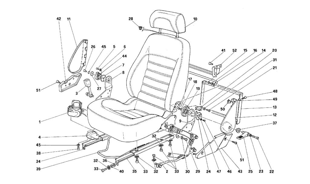 SEATS AND SAFETY BELTS -VALID FOR USA
