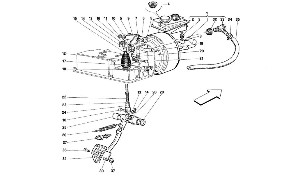 BRAKE HYDRAULIC SYSTEM -VALID FOR RHD