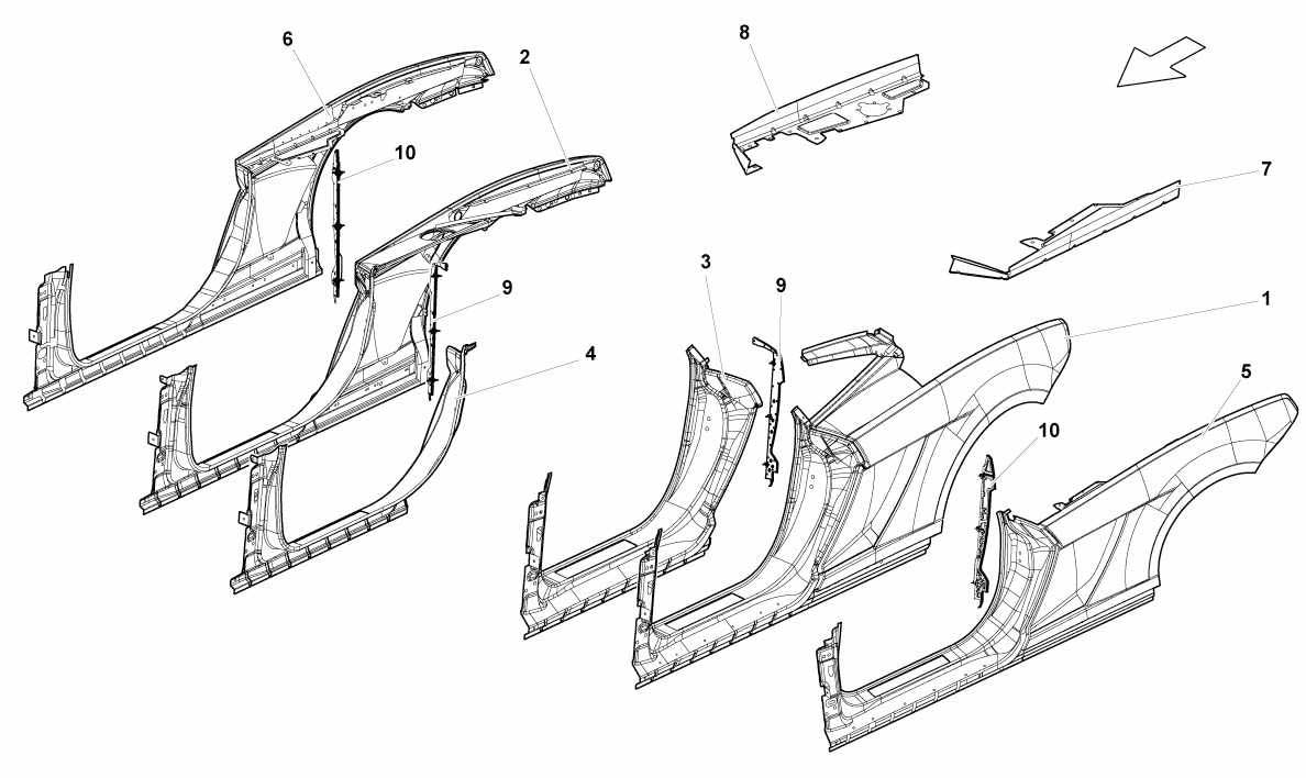 LATERAL FRAME ATTACHMENTS