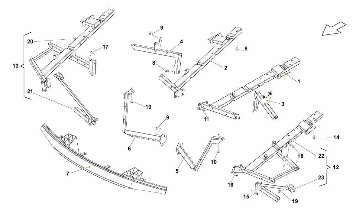 FRONT FRAME ATTACHMENTS