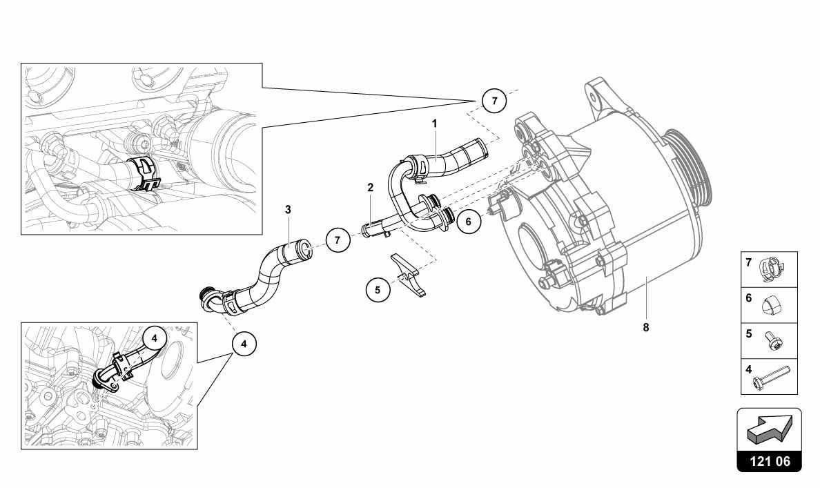 Lamborghini Huracan  Lp610-4  Usa Water Cooling System-alternator