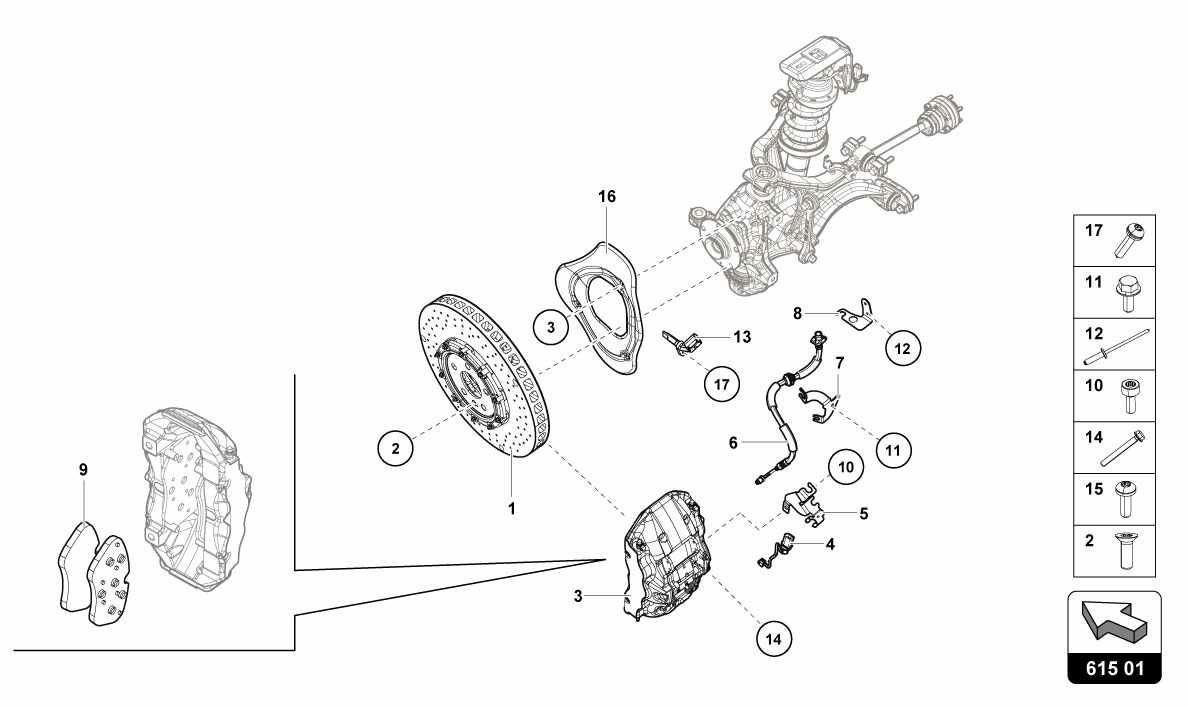 Lamborghini Huracan Lp610 4 Usa Front Brakes Discs Ccb Ricambi Engine Diagrams