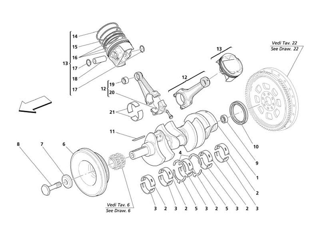 CRANKSHAFT CONRODS AND PISTONS