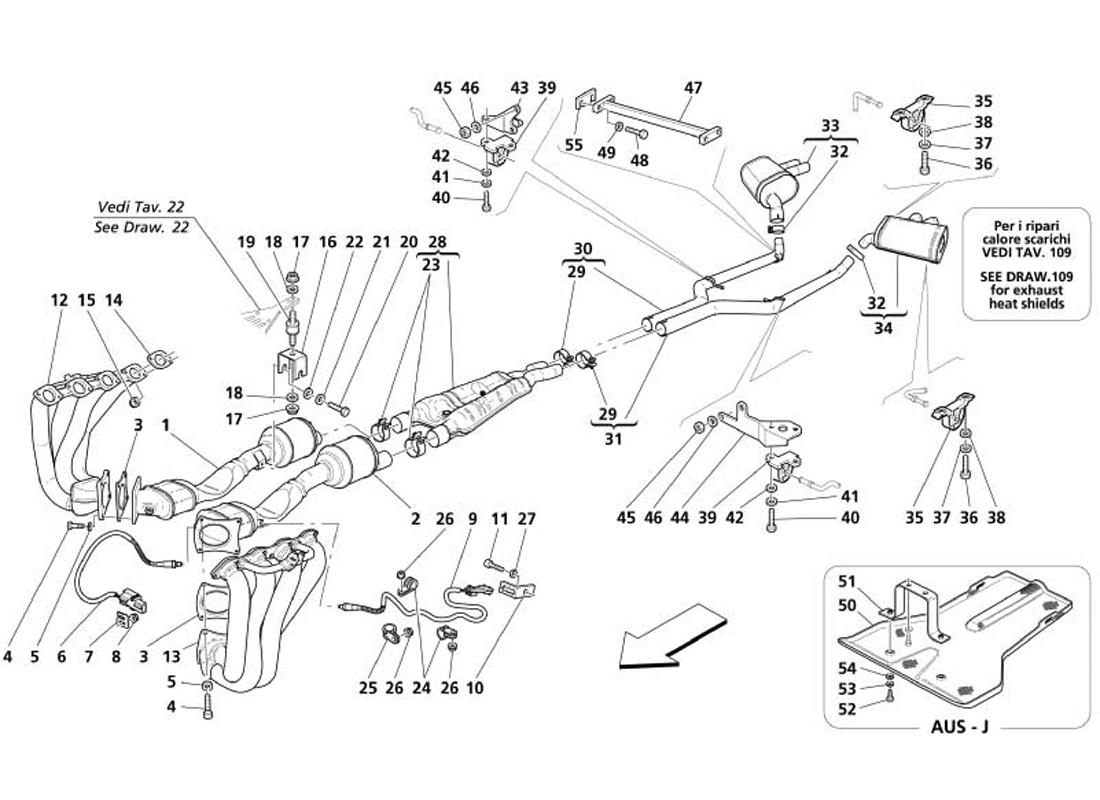 Maserati Gransport Exhaust System Ricambi America Inc Gmc Envoy Headlight Wiring Diagram