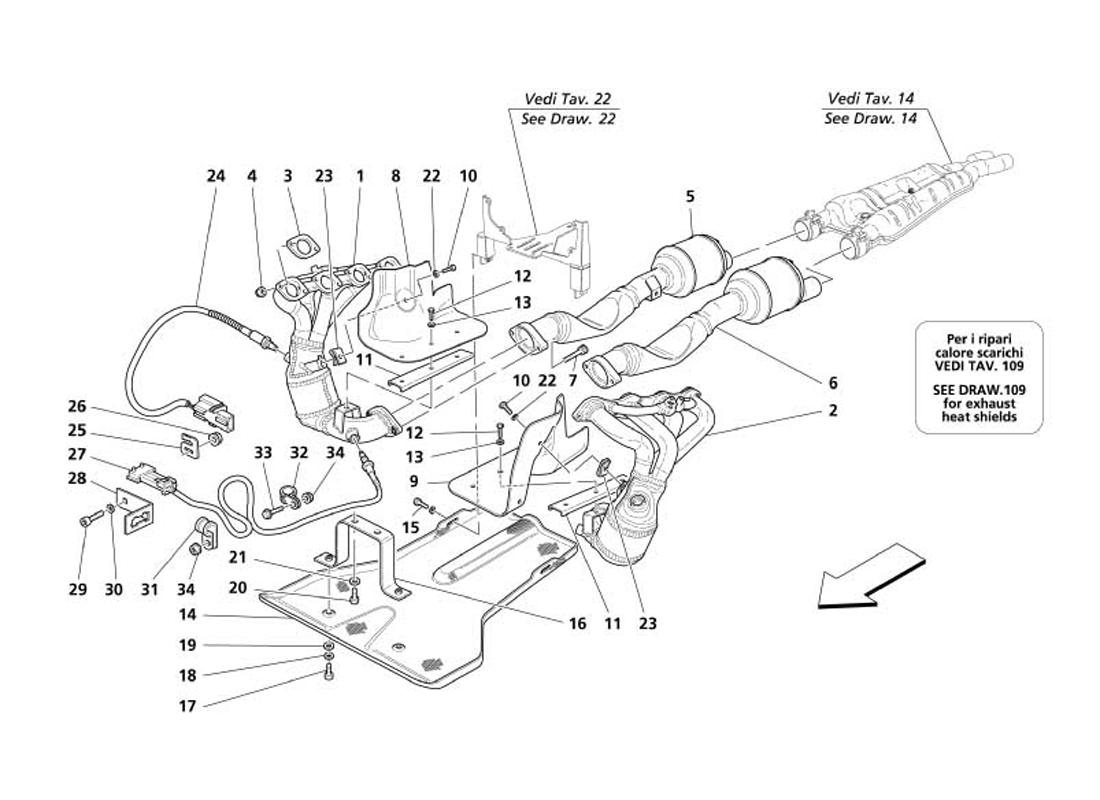 EXHAUST SYSTEM -VARIATIONS FOR USA AND CDN-