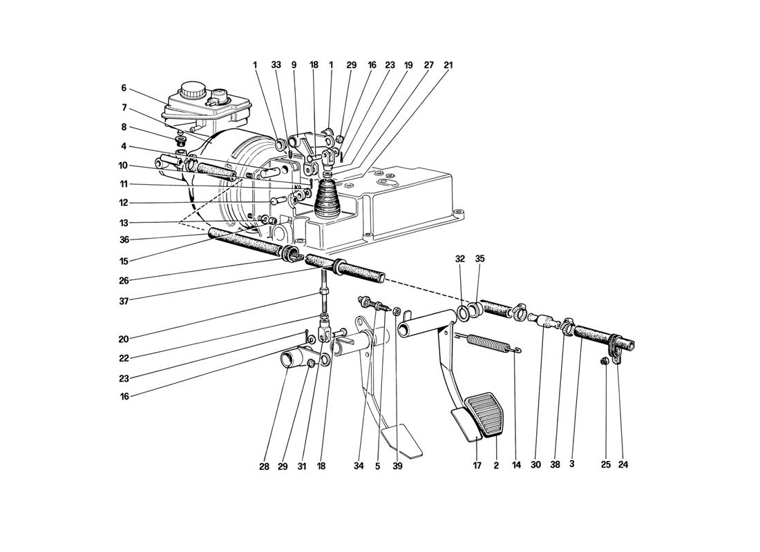 BRAKE HYDRAULIC SYSTEM (FOR CAR WITHOUT ANTISKID SYSTEM)